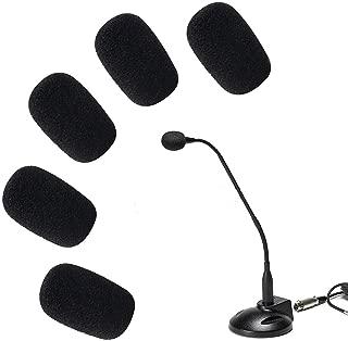 ANiceSeller 5 x 5 Pack Small Mic Microphone Windscreen Soft Foam Mic Cover Sponge Skin