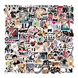 One Direction Stickers Pack 100,Vinyl Waterproof Stickers for Laptop & Water Bottles,Aesthetic Skateboard Stickers for Teens