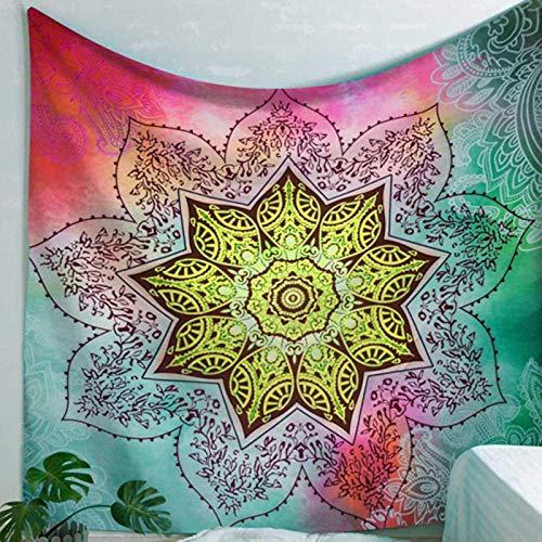 NAIDELI Sun Moon India Mandala Tapestry Wall Hanging Boho Decor Wall Cloth Tapestries Psychedelic Hippie Tapestry Mandala Wall Carpet