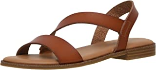 Women's Cushionaire Lido asym slingback sandal +Memory Foam