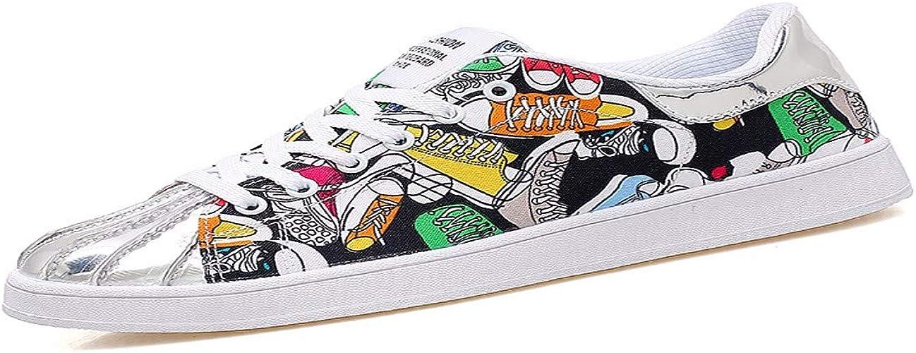 KMJBS-Les étudiants D'été à Fond Plat De Chaussures Les Chaussures Les Chaussures De Sport Doodle La Toile.Trente-Cinq blanc