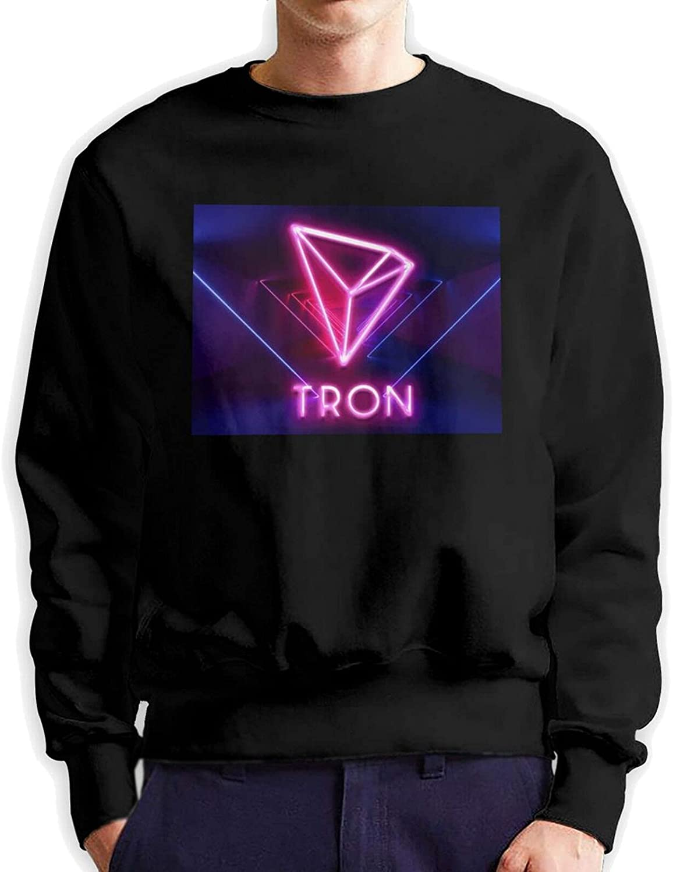 Tron Men'S Long Sleeve Printed Sports Shirt Cotton Black
