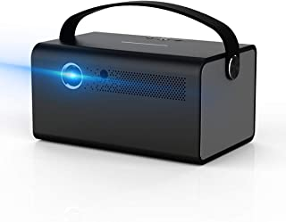 Video Projector 3D DLP Link 2020NEW V7 Android 6.0 600ANSI 4500 Lumens Keystone Correction Support 4K Bluetooth WiFi Mirro...