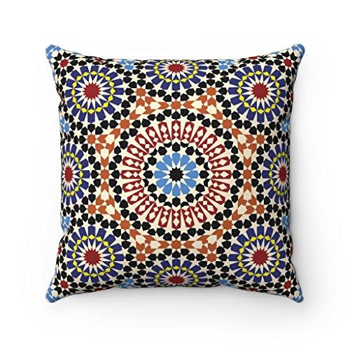 Funda de cojín 43 x 43 cm, diseño geométrico Original marroquí, Colores:...