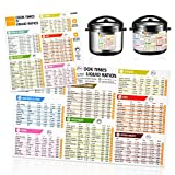 Instant Pot Magnetic Cheat Sheet, Pressure Cooker Magnet, Air Fryer Accessories Cooking Times Food Chart for Refrigerator