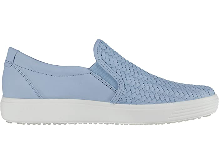 Ecco Soft 7 Woven Slip-on Ii Dusty Blue Cow Leher Sneakers & Athletic Shoes