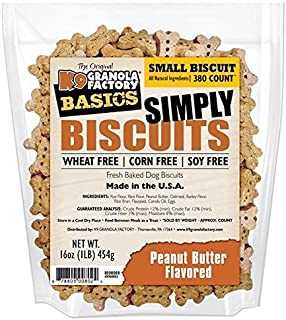 K9 Granola Factory Simply Biscuits With Peanut Butter, Small