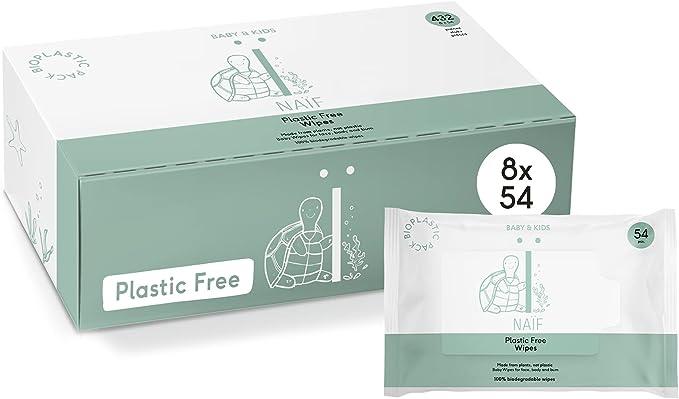 49 opinioni per NAÏF Scatola Di Salviettine Per Neonati Senza Plastica- 3000 G, Bianco