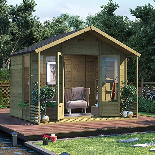 BillyOh Ivy Tongue and Groove Apex Summerhouse (Pressure Treated, 8x10)