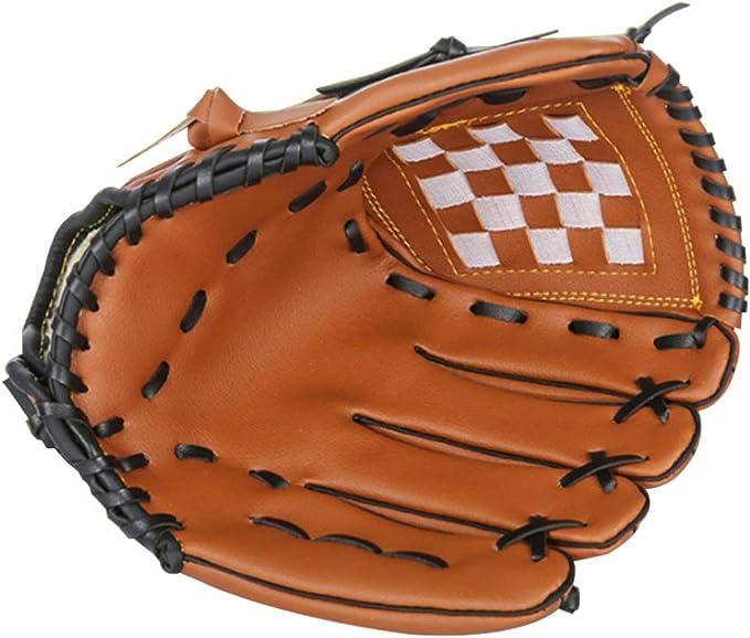 Lioobo 1 peça de 32,5 cm de espessura Infield Jarra de beisebol luvas de softbol para crianças, homens, mulheres, esportes (amarelo)