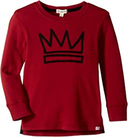 Extra Soft King Crown Graphic Long Sleeve Tee (Toddler/Little Kids/Big Kids)
