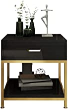 nightstand Table, Strong and Durable Table Nightstand Fashion Modern Nightstand Nordic Luxury Bedside Table Bedroom Furnit...