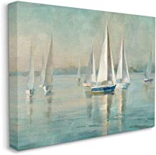 Stupell Industries Traditional Sailboats Water Lake Relaxed Nautical Painting, Designed by Danhui Nai Wall Art, 24 x 30, C...