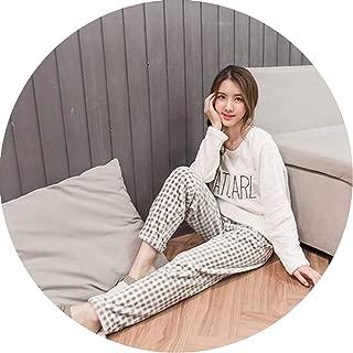 Show-Show-Fashion Winter Pyjamas Thick Flannel Warm Female Pajama Set Cute Cartoon Penguin Long Sleeve Full,