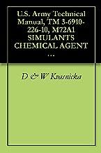U.S. Army Technical Manual, TM 3-6910-226-10, M72A1 SIMULANTS CHEMICAL AGENT IDENTIFICATION TRAINING SET, (NSN 6910-00-106-4800), 1985