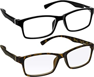 Computer Reading Glasses 0.50 Black Tortoise Protect Your Eyes Against Eye Strain, Fatigue and Dry Eyes from Digital Gear with Anti Blue Light, Anti UV, Anti Glare, and are Anti Reflective