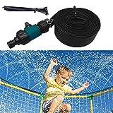 Aspersor de Trampolín para Niños Parque Acuático de Aspersión de Trampolín al Aire Libre Aspersor Trampolín Set Trampoline Sprinkler Mist Cooling System 12M Water Play Sprinklers Pipe