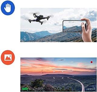 BingWS Remoto Quadcopter Larga Vida Resistencia Plegable Posicionamiento Antena Drone HD Aviones Profesionales Control Remoto Modelo de aeronave Drones (Color : Red, tamaño : Dual Cameras)