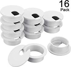 Black Plastic 5 pack for Cable Desk Grommet w//Cover for 2.5 Inch hole