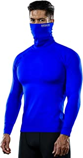 Turtleneck Compression Top Thermal Cool Dry Sports Shirt Baselayer Running Long Sleeve Men
