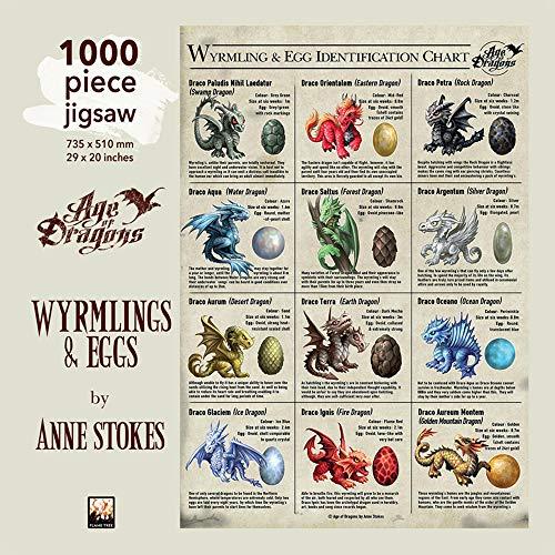 Puzzle - Anne Stokes: Drachen und Drachenreiter: Unser faszinierendes, hochwertiges 1.000-teiliges Puzzle (73,5 cm x 51,0 cm) in stabiler Kartonverpackung