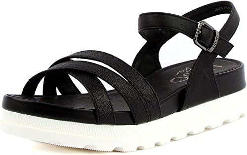 LIU JO Sandalo SPORTIVBasso Sandalo INCROCIO damen Mod. LIU20294 schwarz