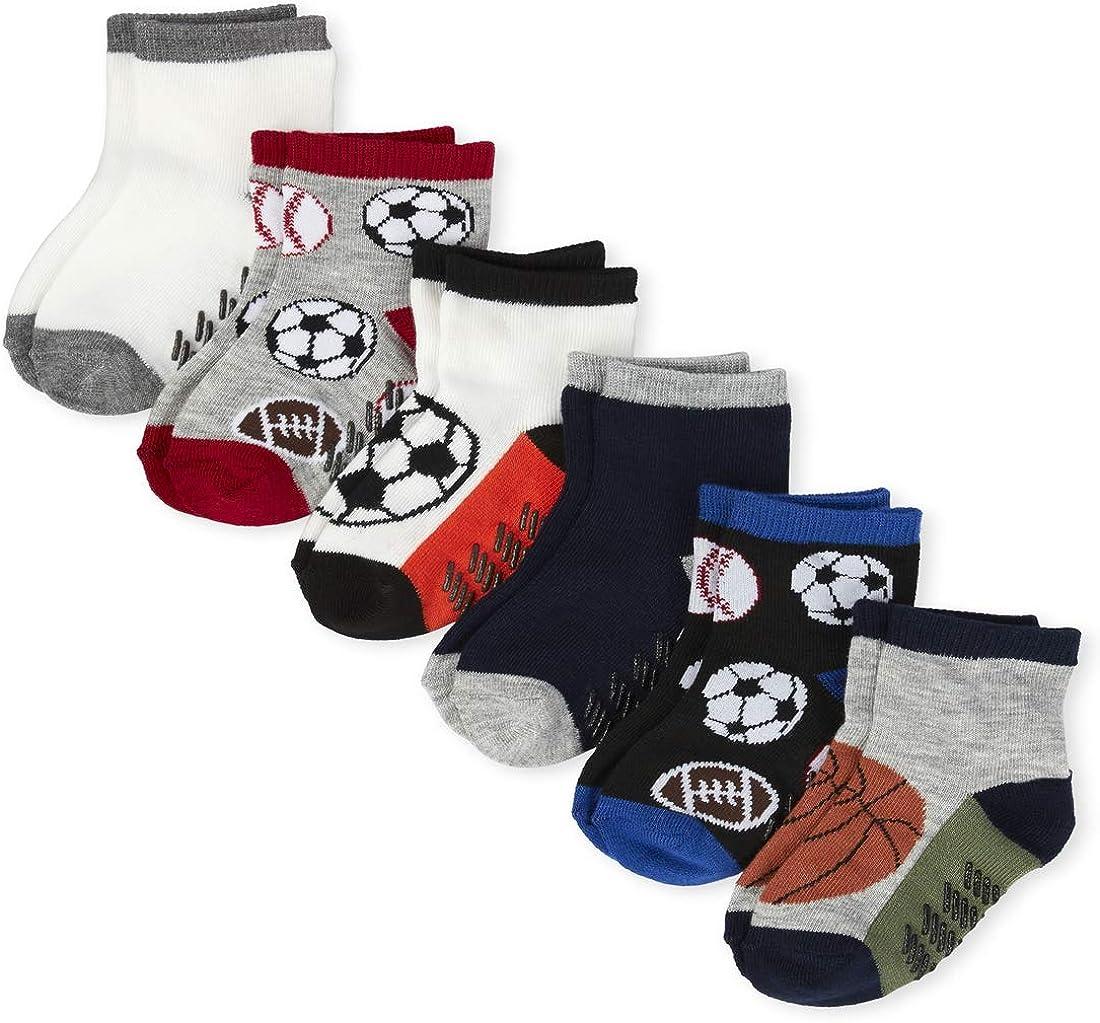 The Children's Place boys Toddler Sports Midi Socks 6-pack