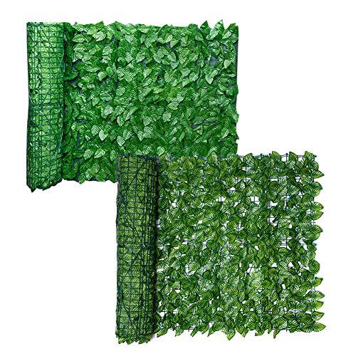 taianle Faux Privacy Zaun - Sichtschutz aus Künstlichem Efeu Künstlicher Heckenzaun Und Faux Ivy Vine Leaf Dekoration für Außendekoration Garten