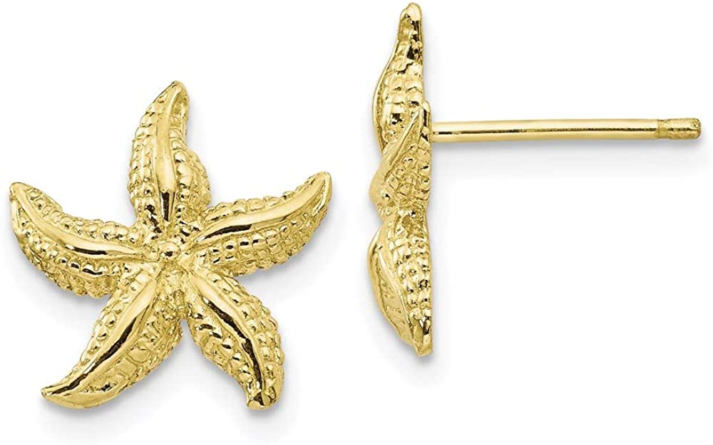 10k Nashville-Davidson Mall Yellow Gold Selling and selling Starfish Earrings