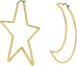 Articulated Celestial Statement Earrings