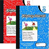 Omura PRIMARY JOURNAL コンポジションブック 9 3/4インチ x 7 1/2インチ 幅広罫線 100ct ブラックマーブル 24冊パック