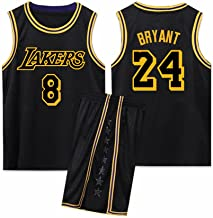 Herentricot, front # 8 Bryant, rug # 24 herdenkriker zwart Mamba Jersey ademend mouwloos sportpak fan basketbal jersey