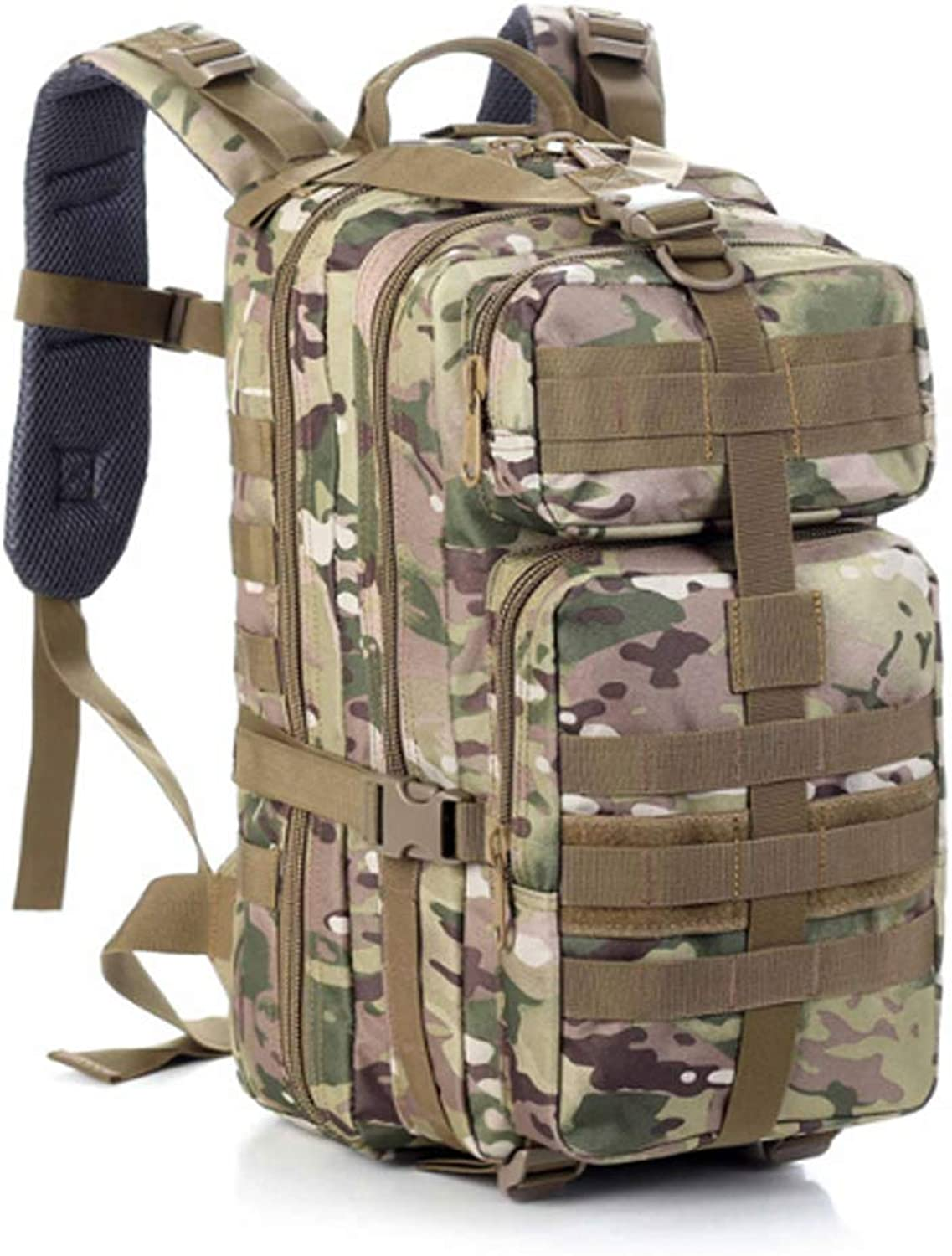 Outdoor Mountaineering Riding Tactical Combination Camouflage Pack Army Fan Large Capacity Hunting Assault Bag Male Travel Backpack