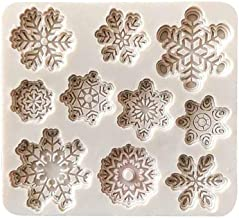 FORESTIME DIY Silicone Baking Cake Molds Christmas Cake Mold Forms Xmas Snowflake Shape Chocolate Candy Cake Baking Decoration