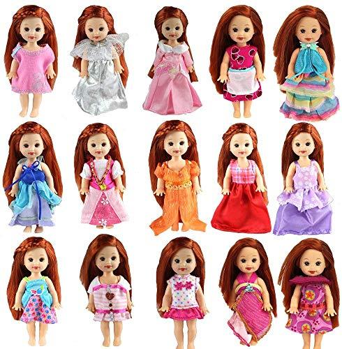 bambola kelly Miunana 6 Abiti Vestiti Selezionati A Caso per Bambola 6 Pollici 15 CM