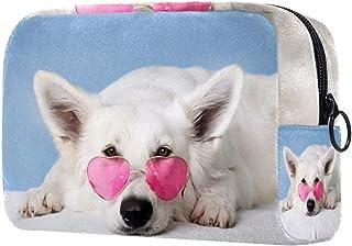 Animal Dog Makeup Bag Toiletry Bag for Women Skincare Cosmetic Handy Pouch Zipper Handbag