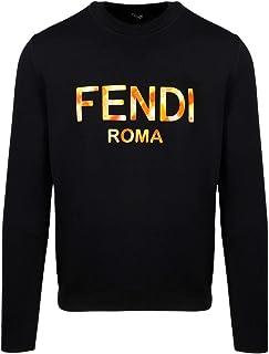 FENDI Luxury Fashion Mens FAE536ABT9F0GME Black Sweatshirt | Spring Summer 20