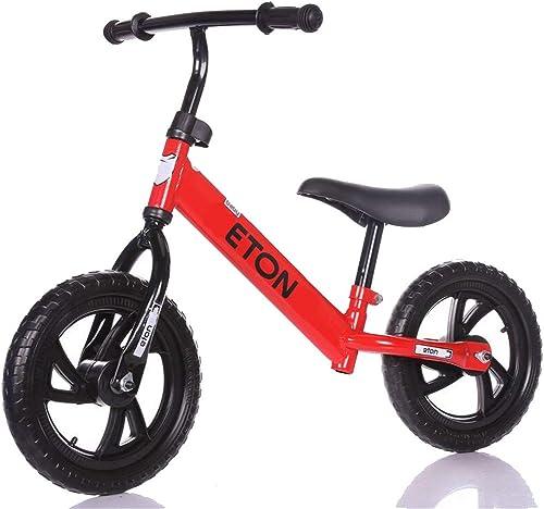 LHY RIDING Vélos Enfants Vélo à Deux Roues pour Enfants sans Pédale     De Voiture Poussette pour Bébé 1-3-6 Ans,rouge,91  54  30cm