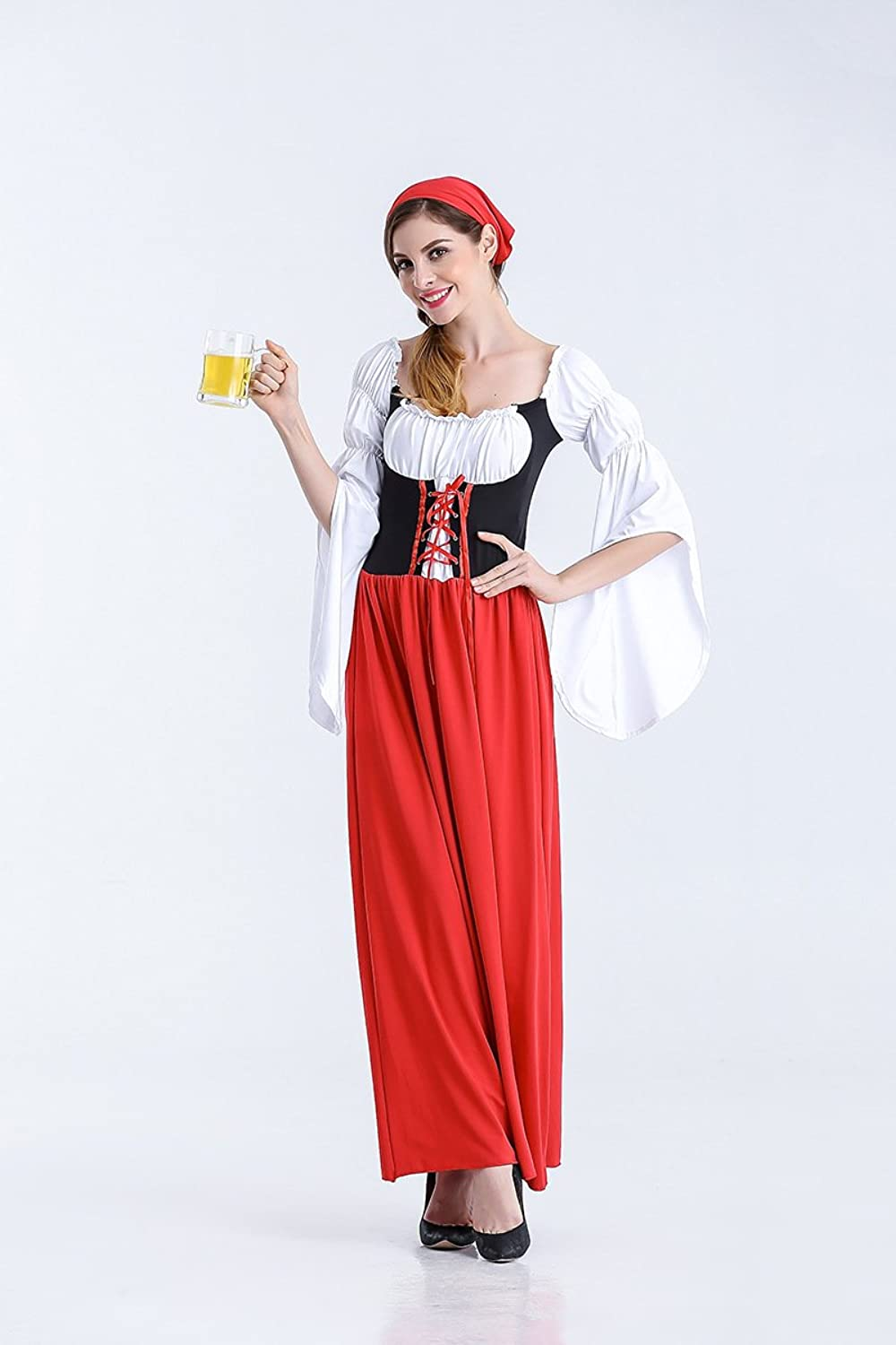 Ruiyue German Oktoberfest Costume Skirt Maid Costume Female Pirate Costume Halloween Beer Clothing for Women