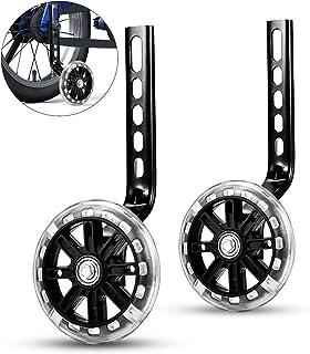 ZOSEN Ruedas de Entrenamiento para Niños Bicicleta Estabilizadores de Bicicleta Ruedas de Soporte para Bicicleta 12 14 16 18 20 Pulgadas (1 Par, Negro)
