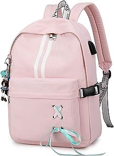 Luminoso Mochila Mochilas Tipo Casual Bolsas Escolares Niña Bolsa de Viaje Bolsos de Mujer Adolescente Backpack School Bag Outdoor Viaje Infantiles Daypack Poliéster Rosado