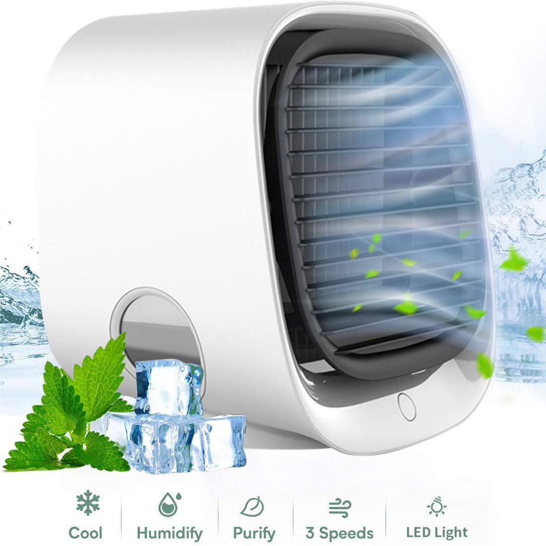 Details about Personal Space Portable Mini Air Conditioner Cooling Air Fan Humidifier Purifier