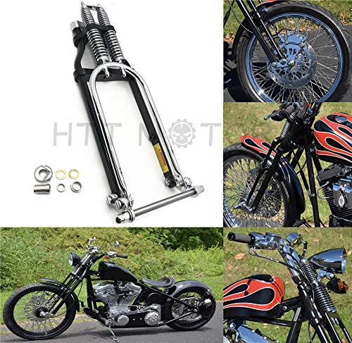 Black 2 Mirror Extensions Kit for Harley Softail Sportster Dyna Touring NBX