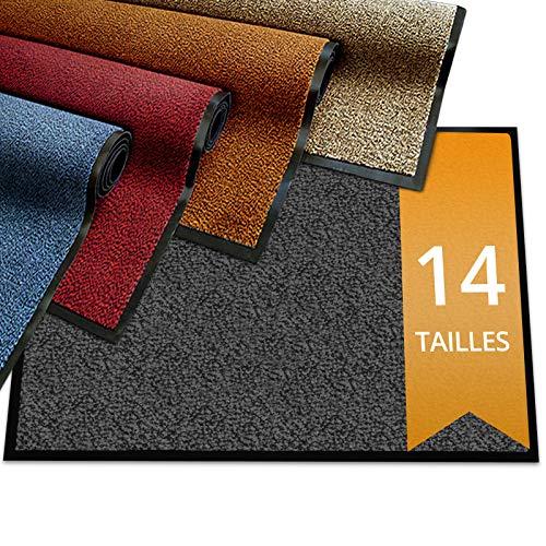 etm Eingangsmatte Premium Series | Saugfähige & waschbare Anti-Rutsch-Matte | Eingangsmatte für den Außen- und Innenbereich | Ocker 40x60cm