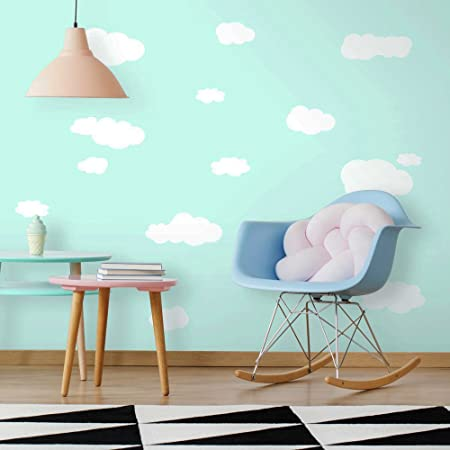 Roommates Rmk1562scs Clouds Peel And Stick Wall Decals White 10 Inch X 18 Inch Wall Decor Stickers