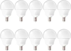 Sunco Lighting 10 Pack G14 LED Globe, 5W=40W, Candelabra Bulb, 450 LM, 6000K Daylight Deluxe, Small Edison Screw Base E12, Frosted - UL