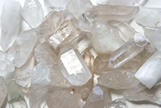 Fantasia Materials: 1 lb Unpolished Crystal Quartz Points from Brazil - Average 1.5