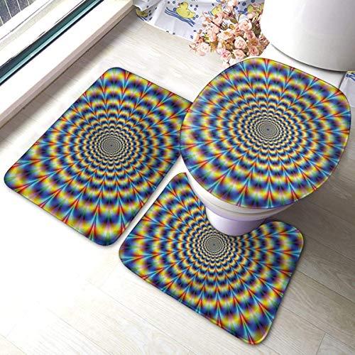 JOOMI Ensemble de Tapis de Bain de Salle de Bain GIF Illusion d