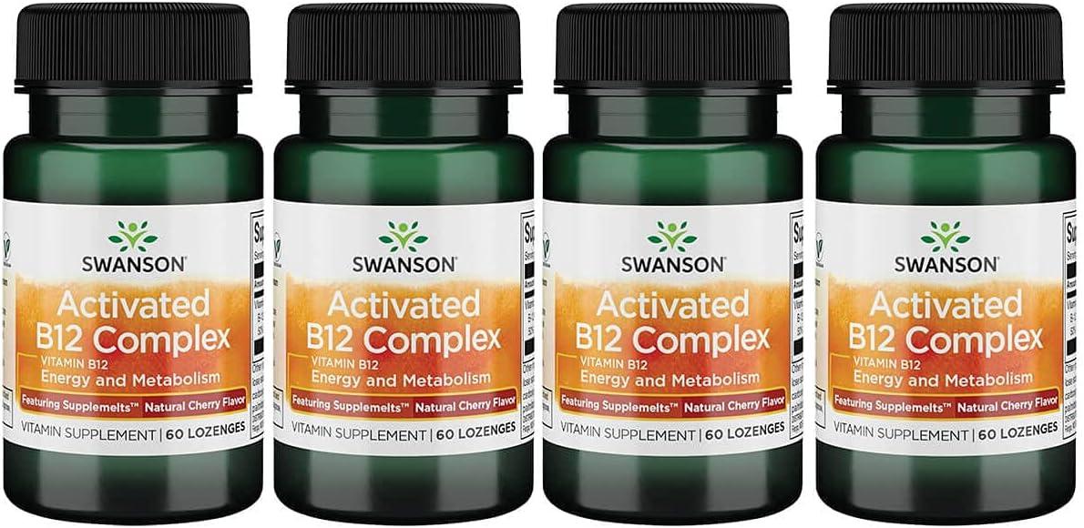 Swanson 超人気 Supplemelts 完売 Sublingual Activated Vitamin 4 60 Tabs B-12