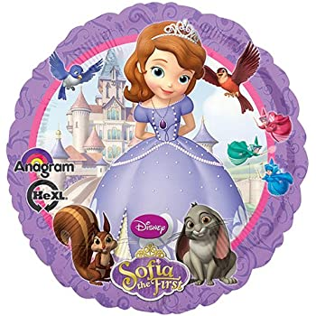 Multicolored 12 Anagram 27719 Sofia The First Inflate-A-Fun Foil Balloon